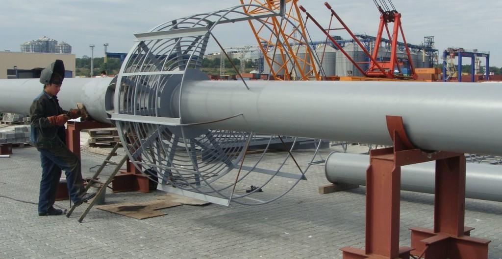 Электродуговая сварка мест примыкания металлической конструкции ПМ